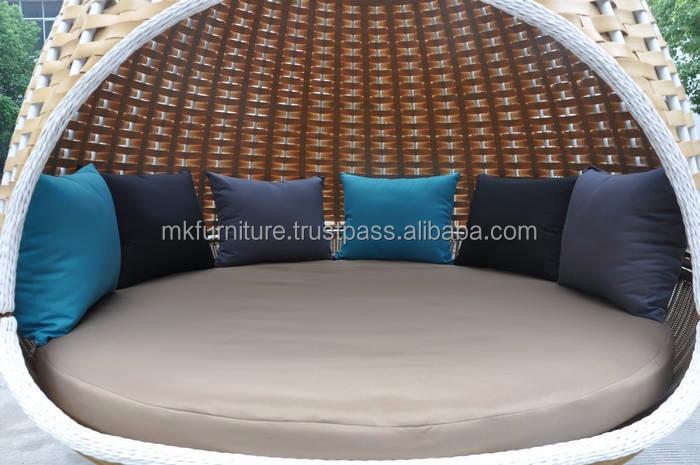 Patio en rotin meubles de jardin balançoire nid lit en osier ...