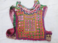 New arrival 100% Cotton hand embroidered beaded work Vintage banjara fabric