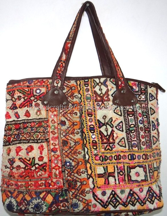 New fashionable leather Strap Hand Bag Gypsy Banjara Tote Bag Tribal Banjara Hand Bag