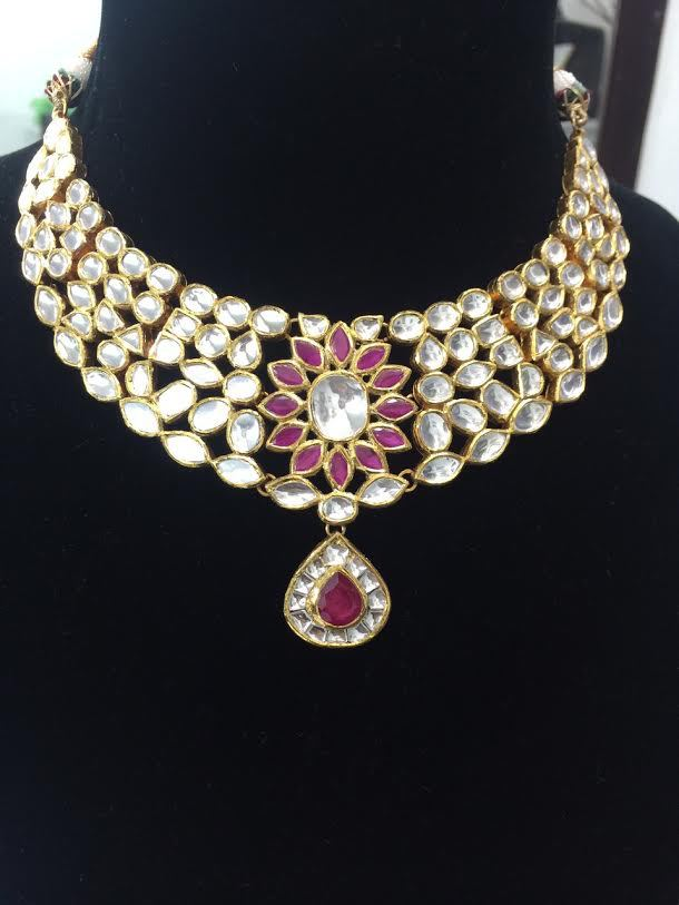 7da38d2819cb8 Bollywood Designer Ruby 22kgold Kundan Necklace Set Indian Kundan Necklace  - Buy Fashion Necklace,South Indian Necklaces,Indian Bridal Necklace Set ...