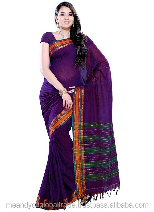 Pure Cotton handloom sari Grand Look Fashion Finished Sarees Collection