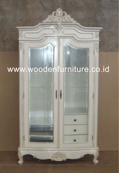 French style wardrobe two doors rococo armoire wooden furniture antique reproduction bedroom for French reproduction bedroom furniture