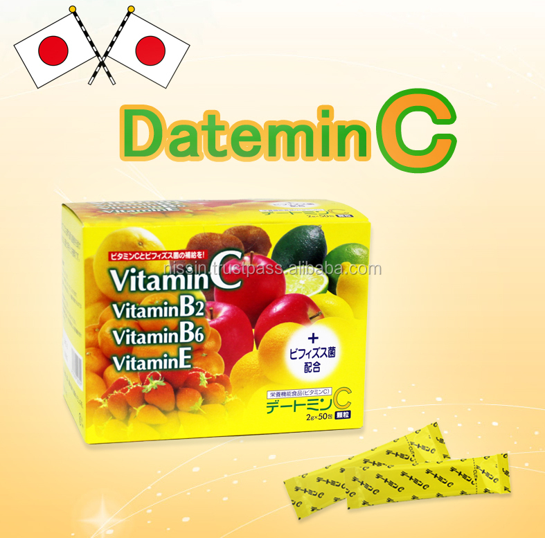 Powder type vitamin C product/ health support food/ adding vitamin B and Vitamin E and Bifidobacteria