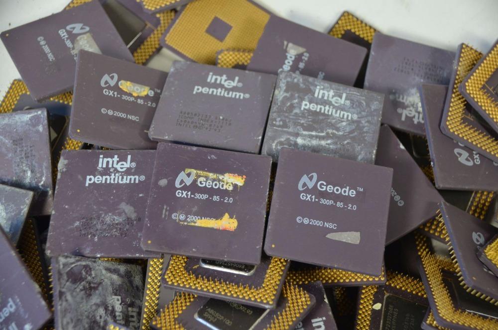 Intel Pentium Pro Ceramic Cpu Processor Scrap With Gold Pins For ...