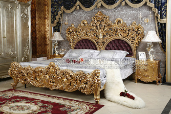 Gold Carving Luxury Bedroom Set