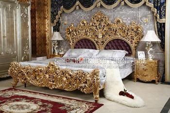 Genial Gold Carving Luxury Bedroom Set