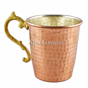 Moscow Mule 12.85 Oz, Copper Mug, Pure Copper Cup, Ayurvedic Cups, Tankard, Hammered Copper, Barware
