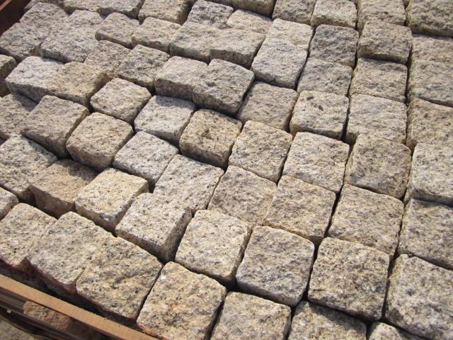pierre jaune de granit flamb pavs pour extrieur route cour jardin pas pas et de