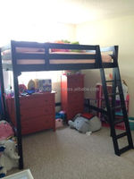 Full Sized Loft Bed /Large space solid wooden Bunk comfortable bed/Modern Home decor bed