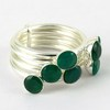 Low Price Today Deal Lovely Green !! Green Onyx 925 Sterling Silver Ring, Exporter And Wholesaler, Gift Silver Jewelry