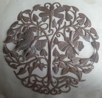 Tree of Life with Butterflies Haitian Steel Drum Art Hatian Art Metal Wall Decor Wholesale Aid To Artisans