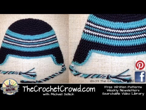 c8b60f9e0e3 Get Quotations · How To Crochet a Hat  Adult Ear Flap with Braids Hat