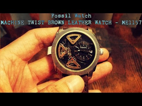 Fossil Watch �C Machine Twist Brown Leather Watch ME1157