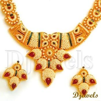22K Gold Kundan Necklace Sets Bridal Kundan Necklace Sets Kundan
