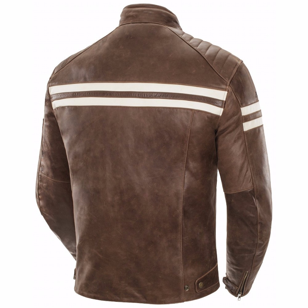 Classic Leather Biker Jacket Top Grade Milled Leather Motorcycle ...