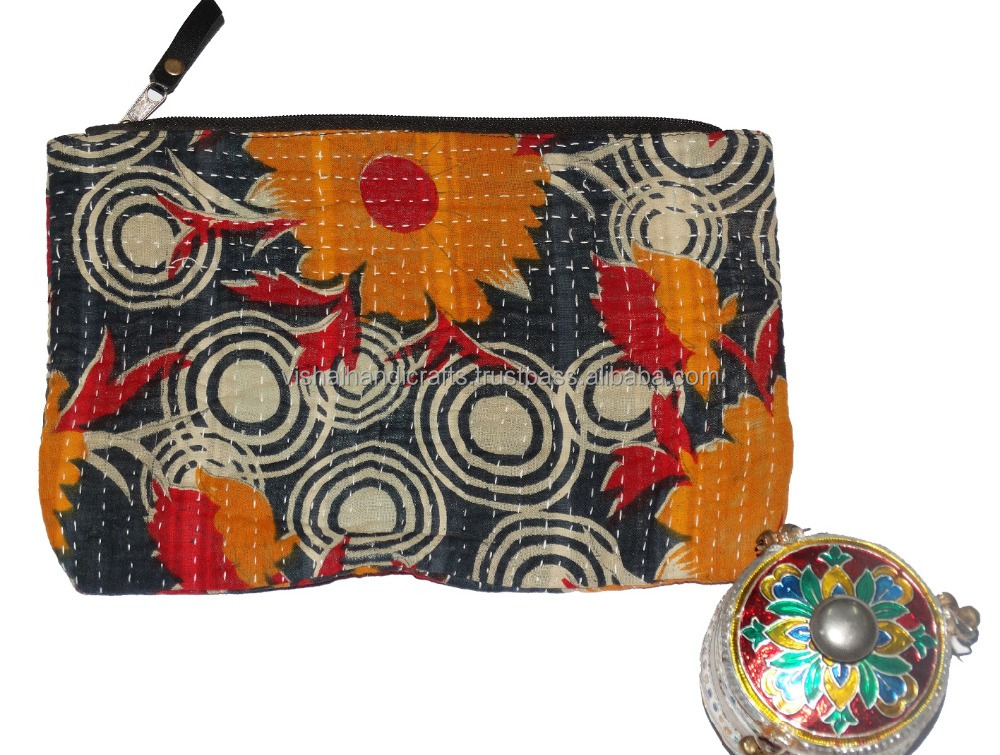 Indian Handmade Old Kantha Clutch bag Vintage bengali gudari pouch Wholesale 2016