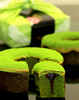 Japanese bulk sweets pastry half slim green tea GREEN TEA CHOCOLATE BAUMKUCHEN with creamy and smooth flavor