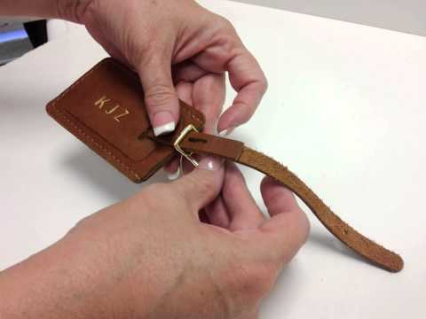 Luggage Tag Tutorial - How to Prepare Leather Tag to Afix to your Bag