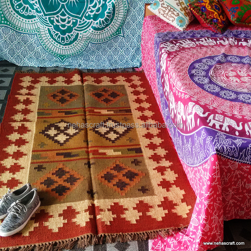 Effictive Tradicional De Lana Alfombras Indias Ncwjr 24c
