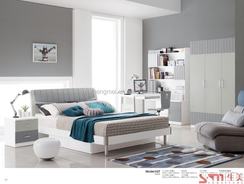 Jongens kids kinderen slaapkamer meubels lades bed met rvs benen zwart wit grijs kleur buy - Renovatie volwassen kamer ...