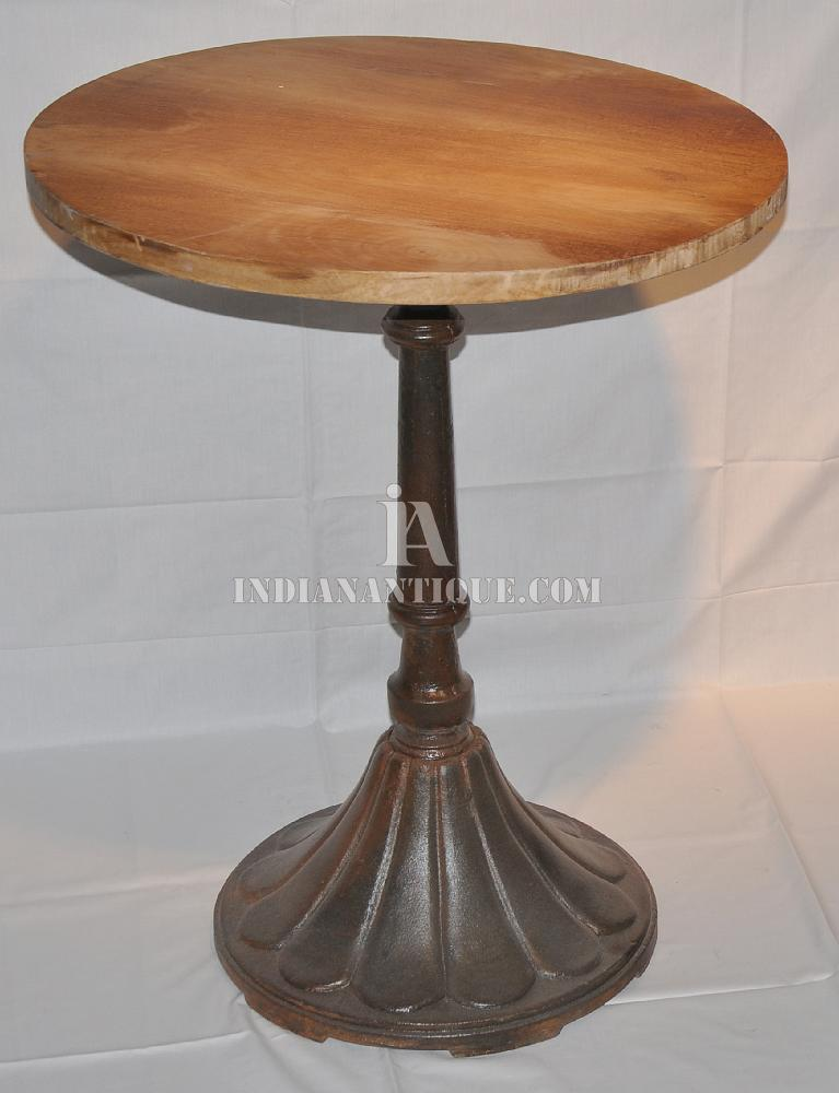 einzigartige vintage gusseisen sockel basis mit holz runde top, Esstisch ideennn