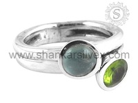 Incredible India Design Wholesale Aquamarine, Peridot Gemstone Ring 925 Sterling Silver Jewelry Manufacture RNCC15-1003-5