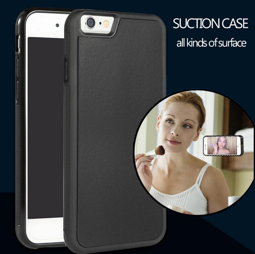 Anti-gravity Phone Case For iPhone5/6 6s / Plus Magical Anti gravity Nano Suction Cover Adsorbed Car Antigravity Cases