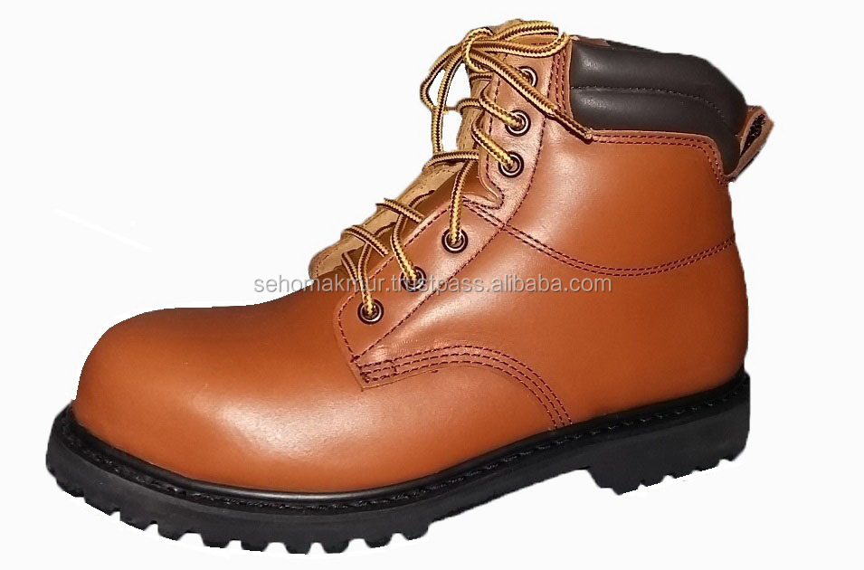 Leather Smooth Safety Ankle Upper Shoes Boot fOq8q