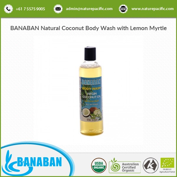 Bulk Sale on Coconut Body Wash with Lemon Myrtle in Customized Packaging
