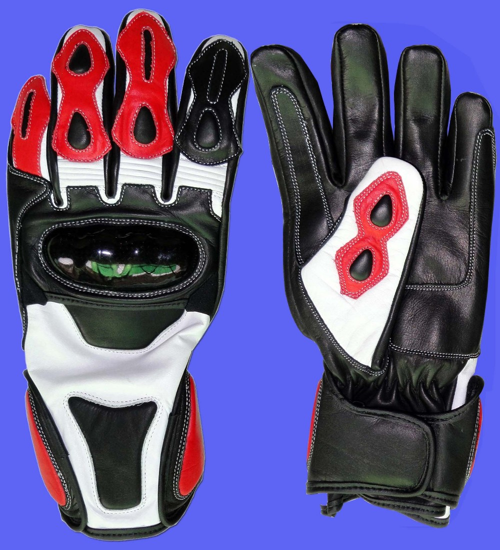 Motorcycle gloves thinsulate - Genuine Leather Motorcycle Gloves Waterproof Thinsulate Motorbike Bike