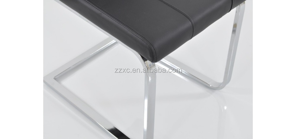 Stacking hole back steel frame dining chairs