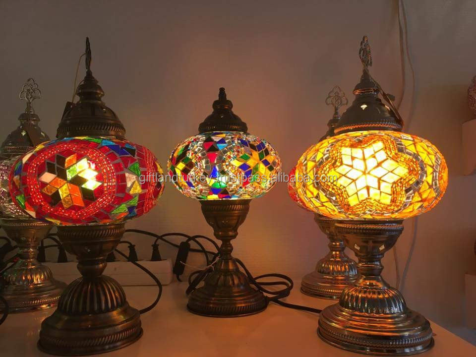 Table Mosaic Lamp Hand Made Turkish Mosaic Lamps