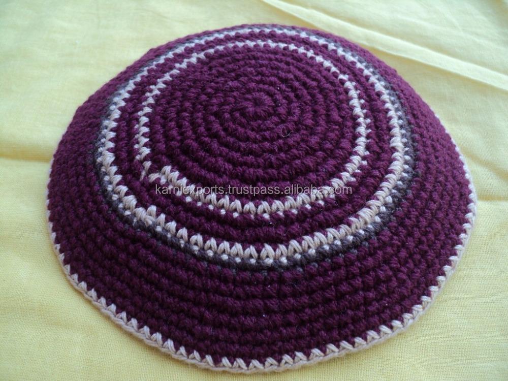 Famoso Patrón De Crochet Kippah Friso - Manta de Tejer Patrón de ...