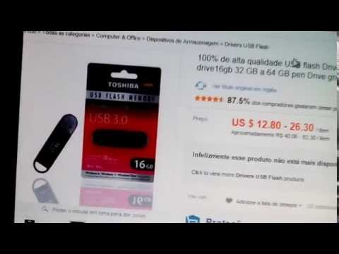 CART?ES MICRO SD E PEN DRIVE FALSOS NO ALIEXPRESS FAKES DRIVE CARD AND USB DRIVE IN ALIEXPRESS)