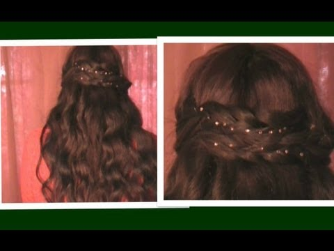 ? Bridal Hairstyles Tutorial Crystal Hair:Bling Accessories Review Christmas New Years Eve Holiday