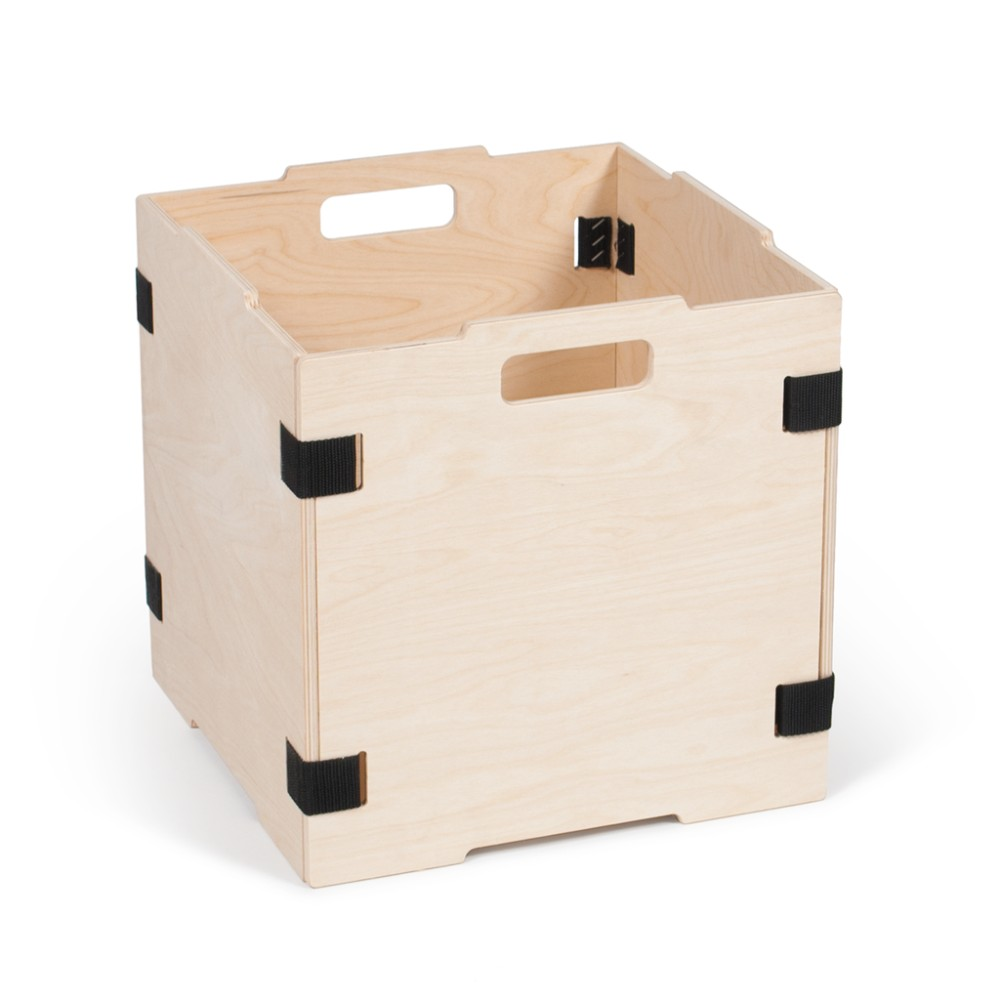 Multifictional Stackable Wood Cube Storage Box
