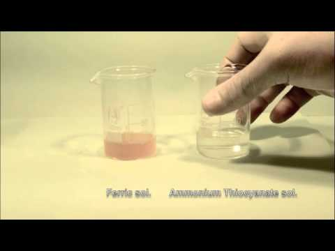 Reaction of Ferric solution with Ammonium Thiocyanate