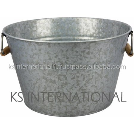 Galvanized oval shape Tub/Round Galvanized Metal wine / beverage Tub