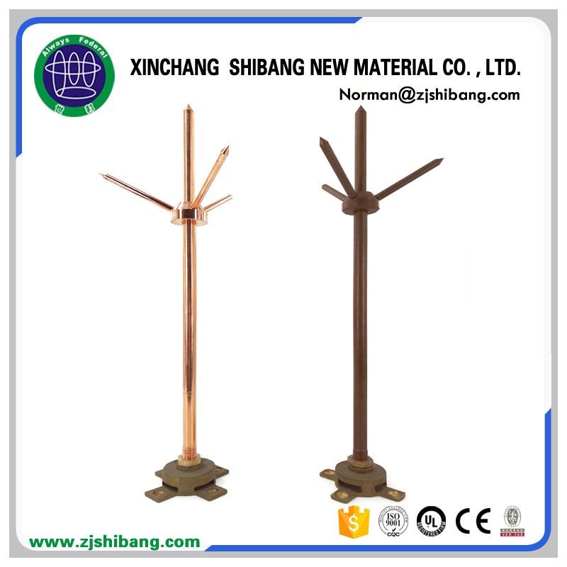 Copper Lightning Rod Of Lightning Protection System - Buy Lightning ...