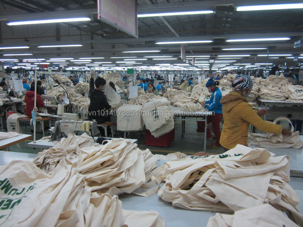 Factory Sale Vietnam cotton bags for shopping or promotion