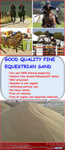 Supreme Natural Silica Sand for Horse Race Track