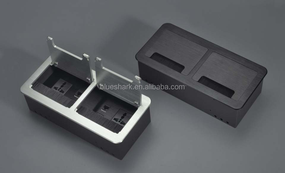 Desk Mounted Hidden Power Socket With Brush For Conference table