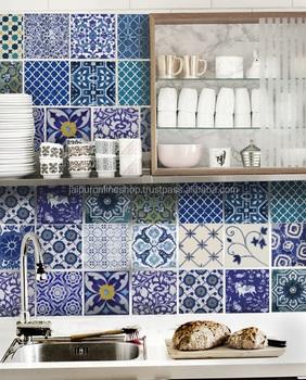 Jaipur Blau Keramik Fliesen Vintage Kuche Decor Fliesen Ideen