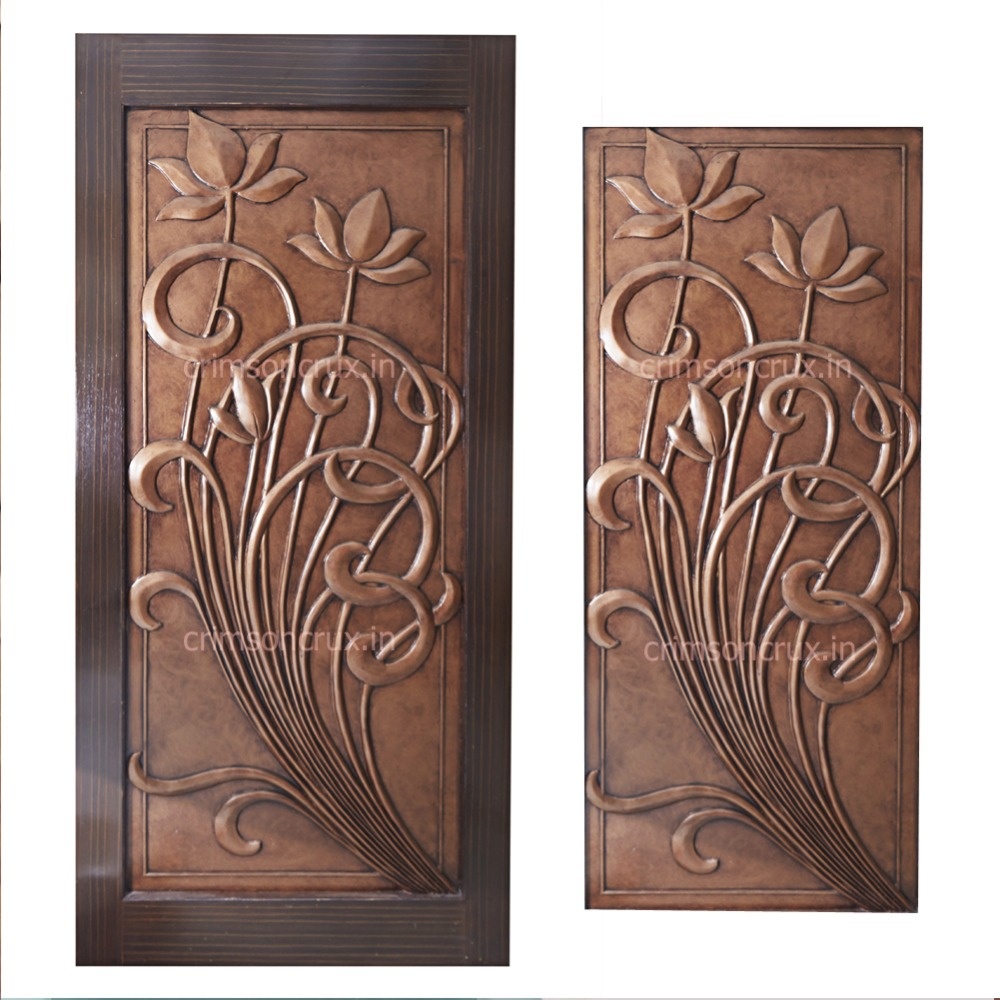 Delicieux Lotus Design Door   Buy Main Door Design,Latest Design Wooden Doors,Indian Door  Designs Product On Alibaba.com
