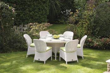 Dining Stoelen Tuin : Witte rotan outdoor tuin dining set en 6 stoel patio tuin outdoor