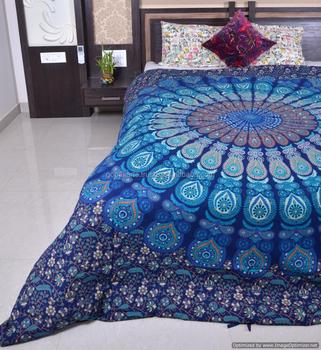 bleu indien mandala housses de couette jeter g nial recherche housse de couette hippie couvre. Black Bedroom Furniture Sets. Home Design Ideas