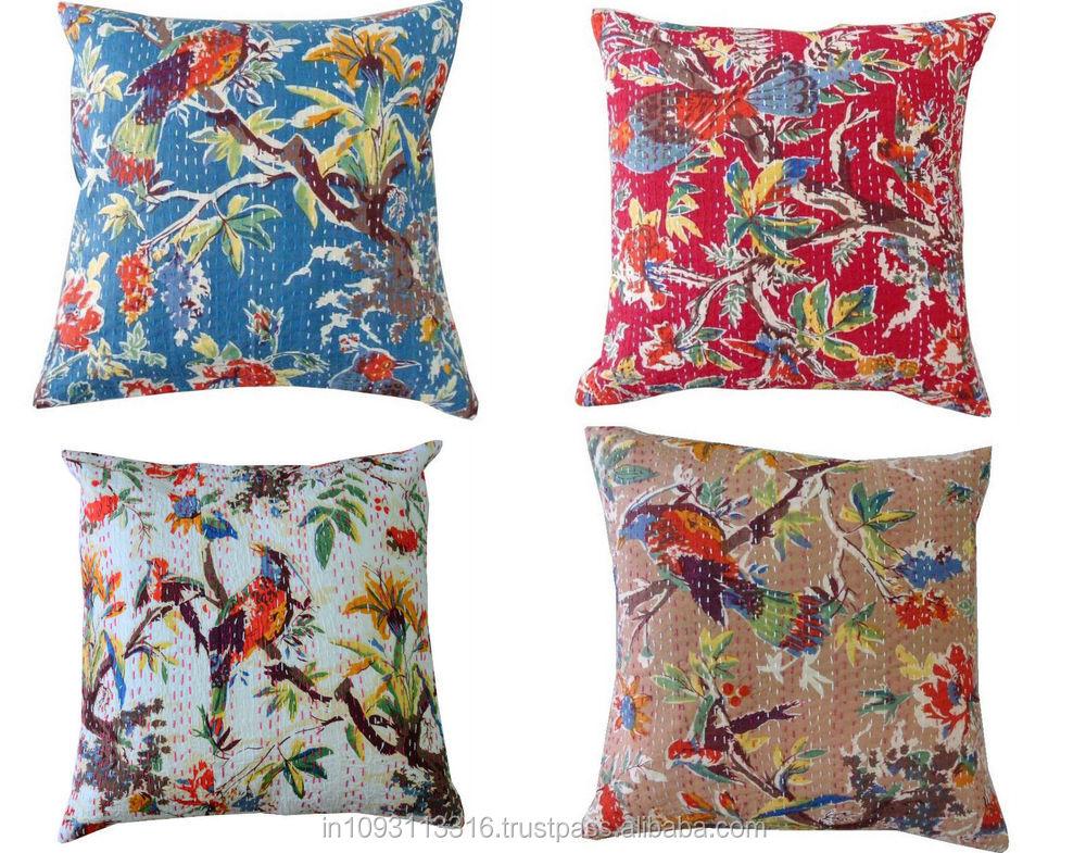 WHOLESALE PRIZE Ikat Printed Cushion Cover / Designer Ikat sofa Cushion Cover / Decorative kantha Ikat