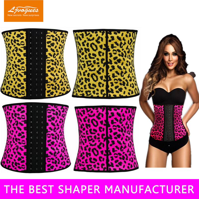 animal print waist cincher Latex Waist Cincher Details 5