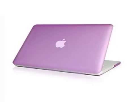 "Details TopCase Rubberized Purple Hard Case Cover for Macbook White 13"" A1342/Latest) w Top List"