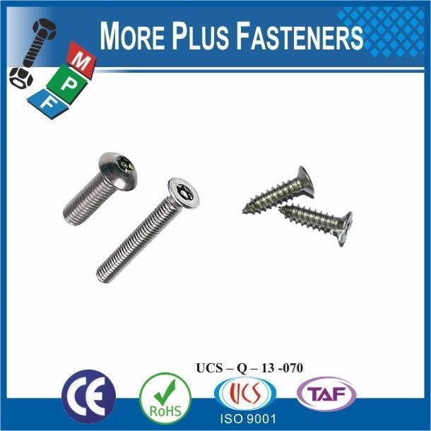 Taiwan Stainless Steel 18-8 Copper Brass Aluminum Brass M4 Screw